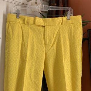 Like New! Banana Republic yellow jacquard pants